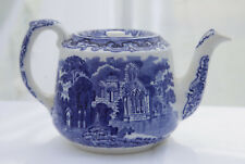 GEORGE JONES 'Abbey' Design Blue & White Teapot
