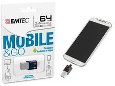OTG Emtec t200 Mobile & Go 64GB 64Go Clé USB 2en1 / USB 3.0 et micro USB