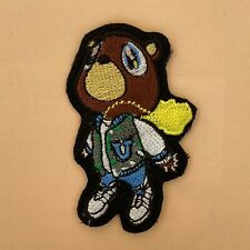 More details for iron on patch - kanye west new flying bear embroidered hip hop rap