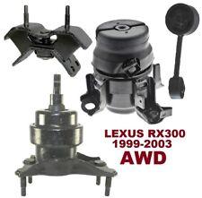 8M1200 4pc Motor Mounts fit AWD SUV 1999 - 2003 Lexus RX300 M/T A/T Transmission
