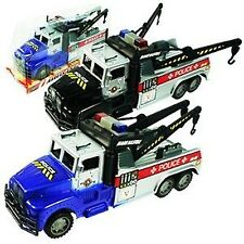 Friction Powered Police Tow Truck Toy for Kids (Colors May Vary)