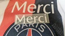 Patch MERCI Ligue des champions PSG OL Maillot porté Mbappé Neymar