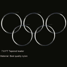 5Pcs/Packing Nylon Fly Fishing Line Knotless Tapered Leader 7.6Ft ( 0X -7X )