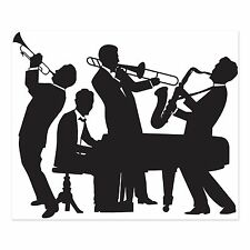 GREAT GATSBY JAZZ BAND SILHOUETTE 1920's PARTY WALL DECORATION ROARING 20's