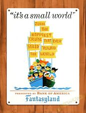 TIN SIGN Disney's It's A Small World Attraction Ride Poster