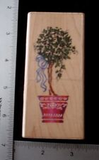 Ivy Topiary by Stampendous ivy pot ribbon