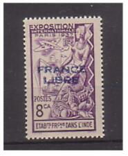 French Indian Settlements - SG 153 - l/m - 1941 - 8ca  bright violet
