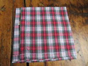 Liberty of London Hand Made Pocket Square Tartan Check Pattern Handkerchief
