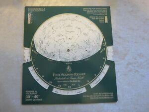 Planisphere Chandler 1977 30-40 north latitude Four Seasons Scottsdale Night Sky