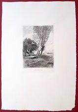 Eau-forte originale, A Samois près Valvins,Chauvel, Cadart, XIXe