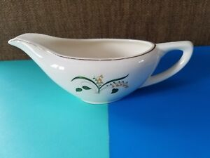 Knowles Forsythia Gravy Boat  Gold Trim Yellow Flowers