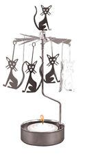 Pluto Produkter Rotierender Teelichthalter Teelicht Katze Metall
