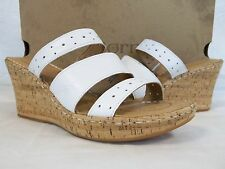 Born Size 10 M Marjorie White Leather Open Toe Wedges New Womens Shoes