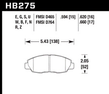 Hawk Disc Brake Pad-DX Front for Acura CL / Accord Civic Insight HB275F.620