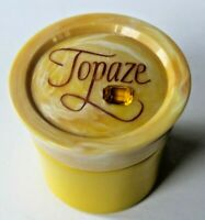 Vintage Avon Empty TOPAZE Cream Sachet BOTTLE container with Box