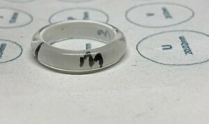 White Plastic Ring (M or W) Size O