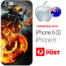 iPhone 6 6S Silicone Case Cover Ghost Rider Anti-Hero Marvel Comics Motor AUS