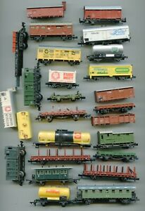 Collection of wagons   SPARES/REPAIR  N Gauge