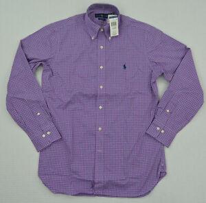 New Men's Ralph Lauren Long-Sleeve Button Down Easy Care Dress Shirt