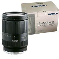New TAMRON 18-200mm f3.5-6.3 Di III VC Lens BLACK (B011) Canon EOS-M Mirrorless