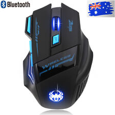 Adjustable Optical Wireless Bluetooth Gaming Game Mouse For Laptop PC