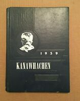 1959 Kanawhachen Glenville State College Yearbook WV West Virginia Old Vintage