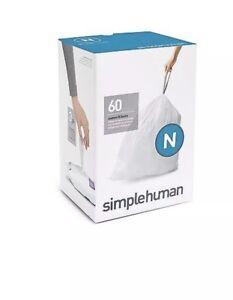 Simplehuman Code N Bin liners, CW0262 (3 Packs Of 20= 60)