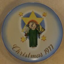 CHRISTMAS 1977 HERALD ANGEL PLATE BY SISTER BERTA HUMMEL LIMITED ED SCHMID COLL.