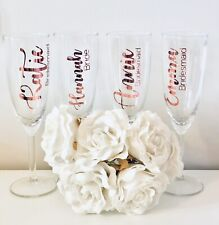 Personalised Wedding/Hen Do Glass Champagne Flutes