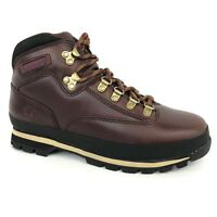 Timberland Men's Classic Euro Hiker Burgundy Leather Boots 6603A Size 7