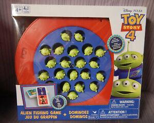 Disney Pixar Toy Story 4 Alien Fishing Game plus 28 Dominoes