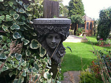 (NEW)Garden Stone Ornaments,Lady Shelf Wall / Tree Hanging Plaque~Beautiful Girl