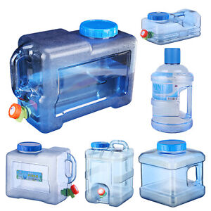 Camping Hiking Tap Carry Tank Container Storage Drinking Water Bottle Bucket LOT