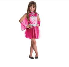 PINK SUPERGIRL TUTU COSTUME Dress M Girl 8-10 Child Halloween Superhero NEW