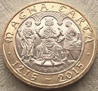ALMOST UNCIRCULATED RARE Magna Carta 800th Anniversary £2 Two Pound coin 2015