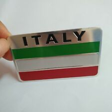 3D Metal Aluminum alloy Italy Flag Auto Car Emblem Badge Decal Sticker logo