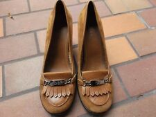 Gianni Bini Women's Leather Pumps Career Dressy Shoes Tan Size 9.5 M