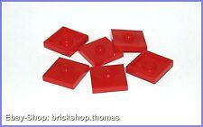 LEGO 6 x convertisseur plaques avec noyau rouge - 87580-plate red-Neuf/New