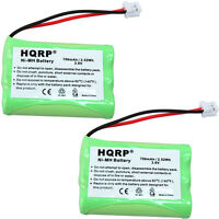 2-Pack HQRP Phone Battery for AT&T TL72308 TL72408 TL74108 TL7420