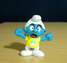 Smurfs Snappy Smurfling Yellow T Shirt Vintage Smurf Figure Toy Figurine 20401