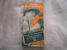 1938 Land Measurements Union Title Insurance Trust Company Brochure
