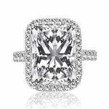 3.68 Carat Radiant Cut Diamond Engagement Ring VS2/D White Gold 14k 6170