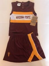 ASU Arizona State University Cheerleader Outfit 3T Maroon Gold Sun Devils New AZ