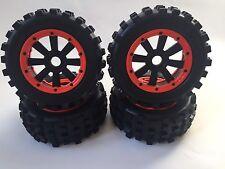 MAD Max GIANT GRIP Reifen mit  Extreme Mit speichen/Einlagen für Losi & hpi Rot