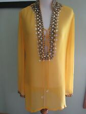 Icandy swimwear Mabein Eu Yellow Cover Up Blouse Size M