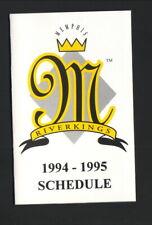 Memphis RiverKings--1994-95 Pocket Schedule--Coors Light