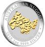 2019 Welcome Stranger 1oz Silver Gilded Coin Perth Mint Presentation Case COA