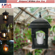 Solar Lantern Candle Lights Waterproof Hanging Lamp Patio Lawn and Garden Decor