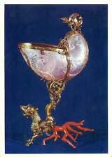 Postcard crystals decoration jewerly dog gold
