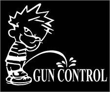 Gun Control Calvin pee on gun control